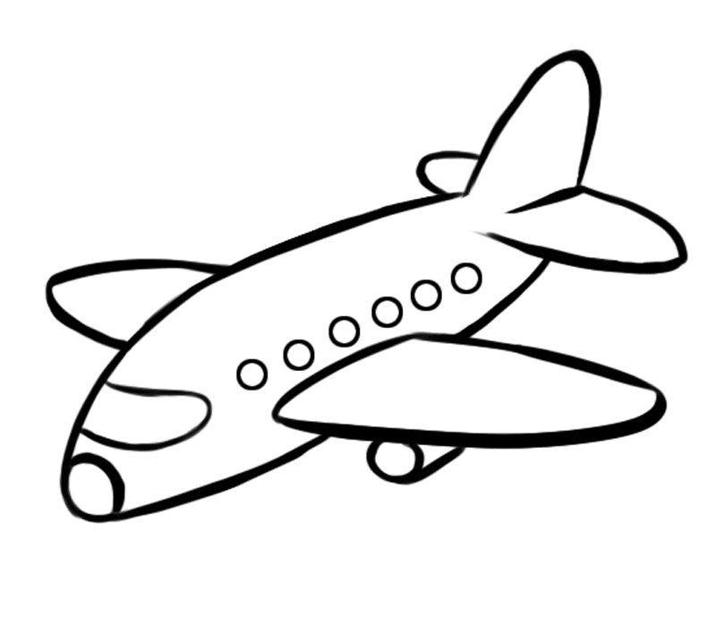 Avión de pasajeros: Dibujos para colorear.