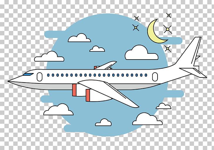 Avión blanco en la ilustración de vuelo, dibujos animados de.