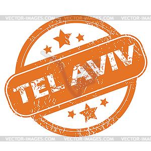 Tel Aviv round stamp.