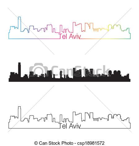 EPS Vector of Tel Aviv Silhouette.