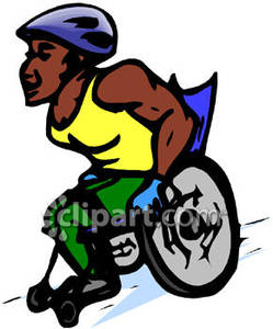 Wheelchair Race Clipart.