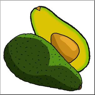 Clip Art: Avocados Color I abcteach.com.