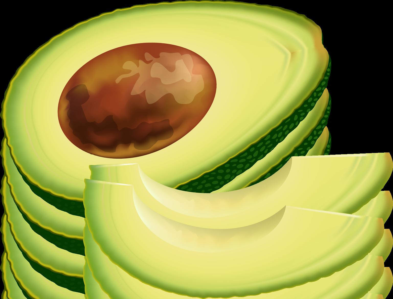 Avocados clipart #6