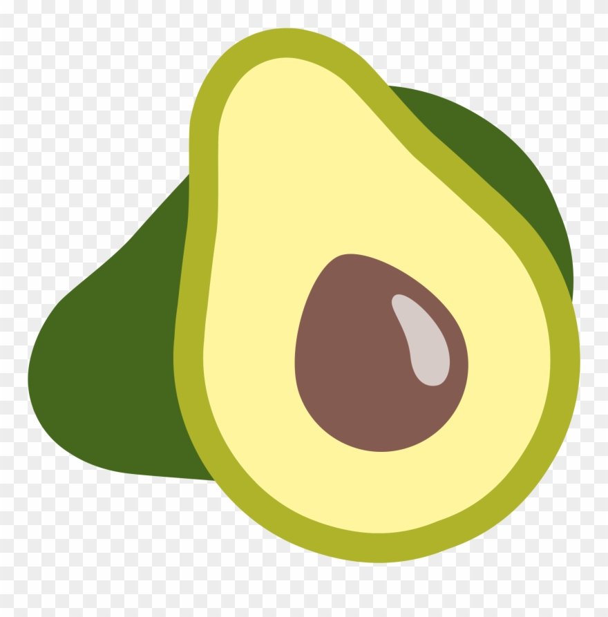 Cute Clipart Avocado.