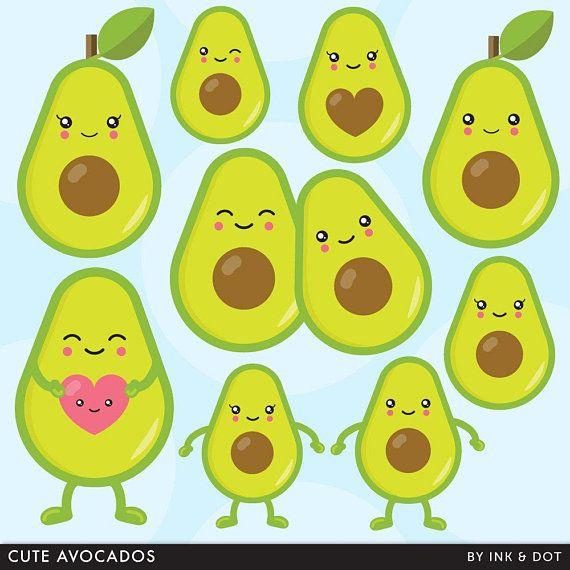 Avocado Clipart, Avo, Guac, Salad, Vegetables, Avocados Clip.