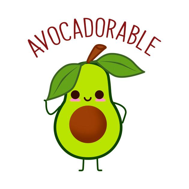 Avocado clipart adorable, Avocado adorable Transparent FREE.