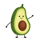 Free Avocado Clipart and Vector Graphics.
