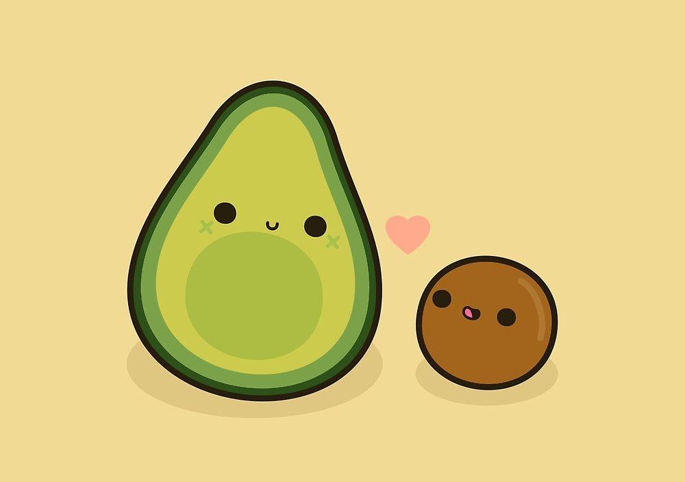 Avocado clipart cute, Avocado cute Transparent FREE for.