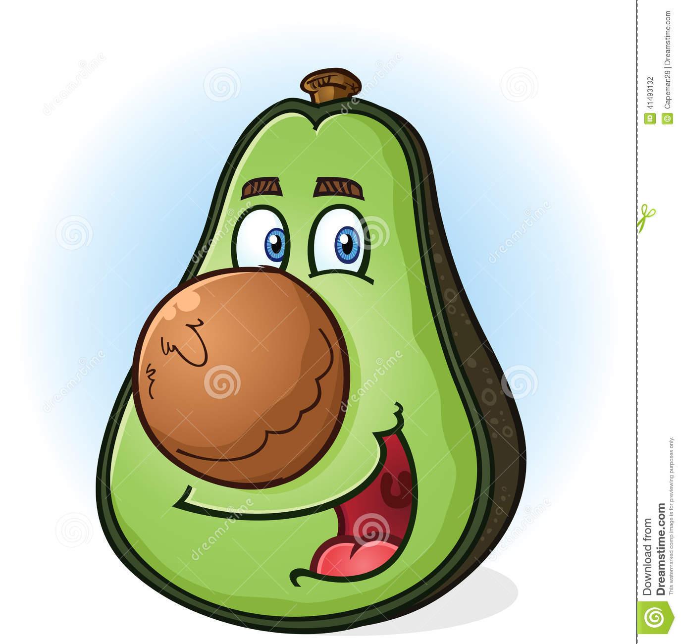 91 Avocado free clipart.