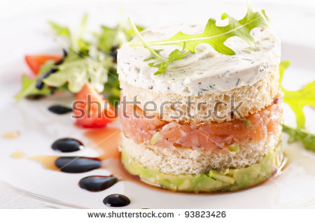 Salmon Tartare With Avocado Cream Stock Photo 93823426 : Shutterstock.