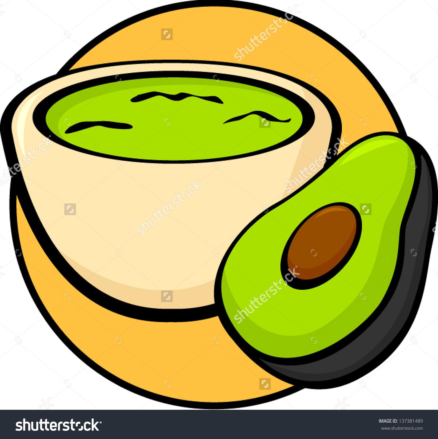 Guacamole Avocado Stock Vector 137381489.