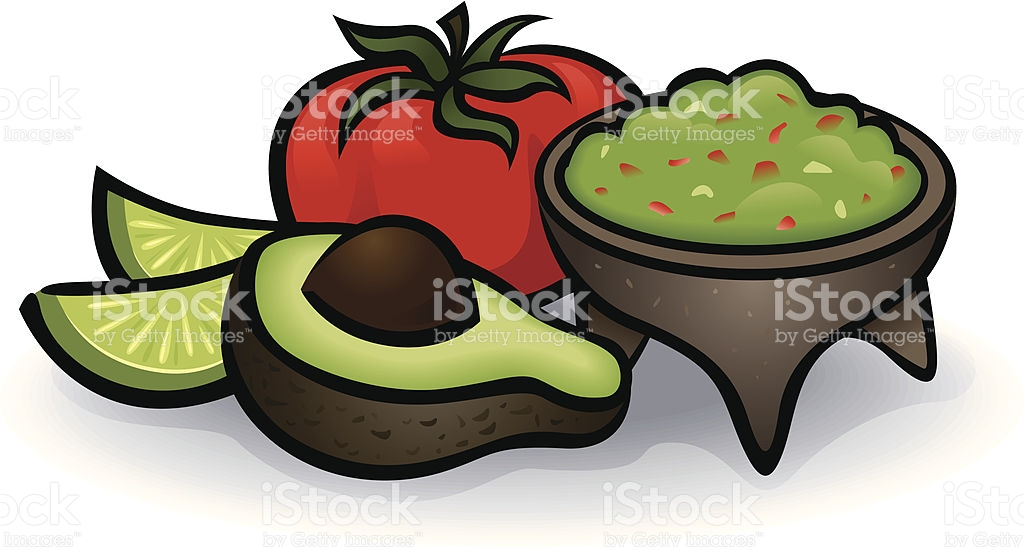 Avocado Dip Clip Art, Vector Images & Illustrations.