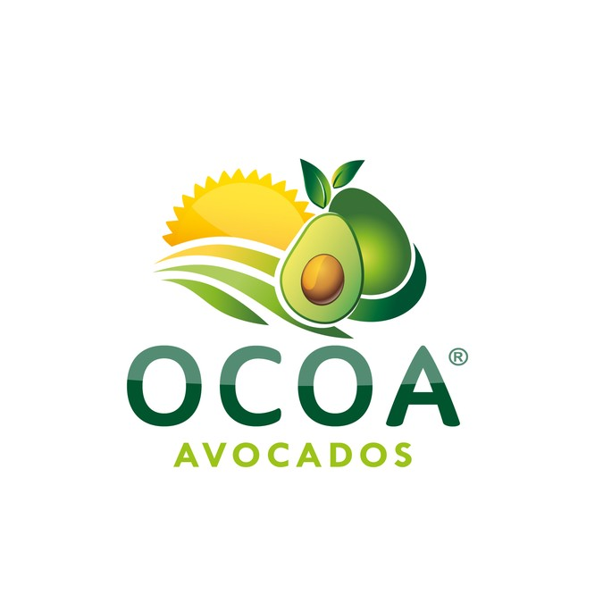 design a modern, organic, appealing logo for an avocado.