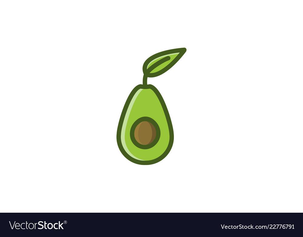 Green avocado logo designs inspiration isolated.