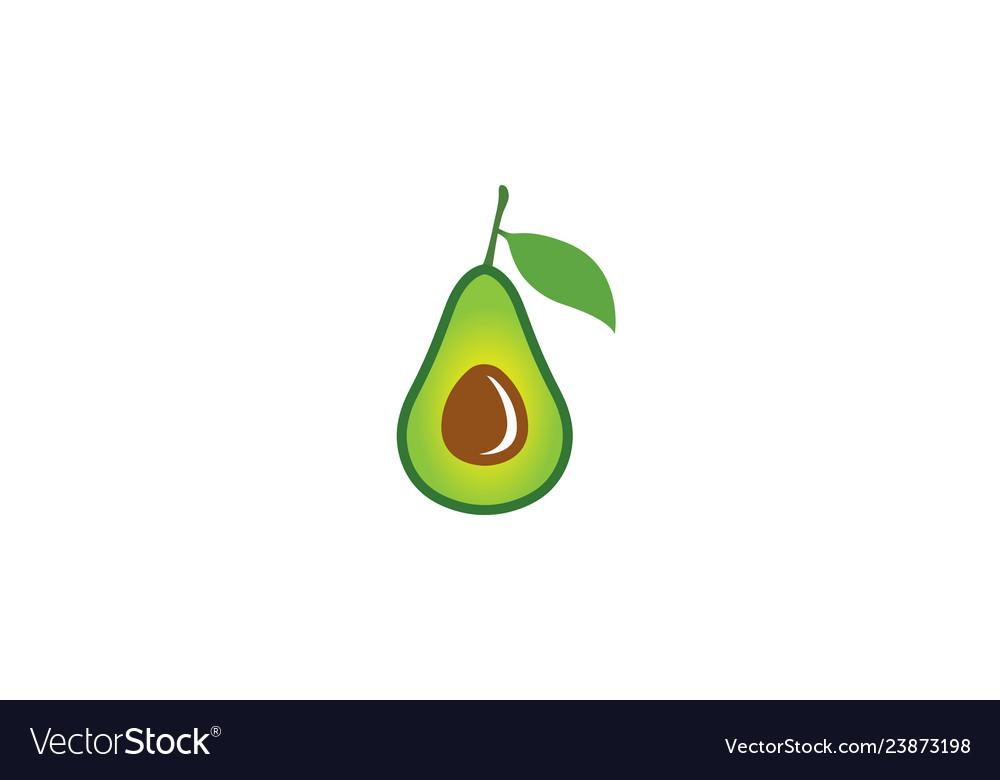 Creative avocado fruit logo.