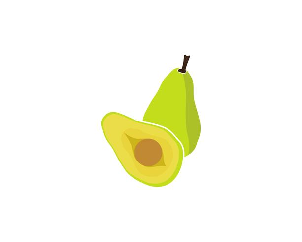 avocado vector template logo.
