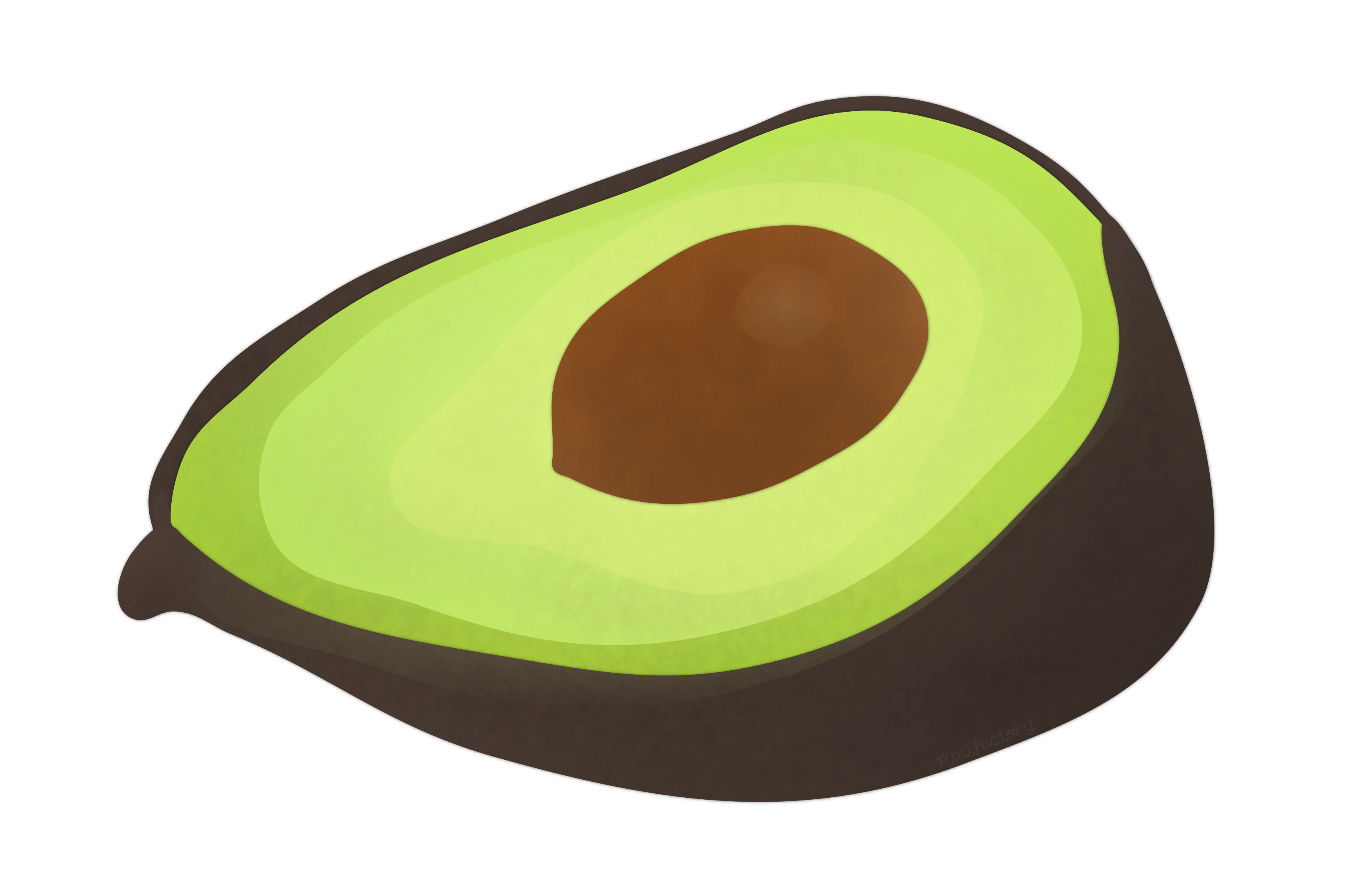 Clipart with transparent background avocado.