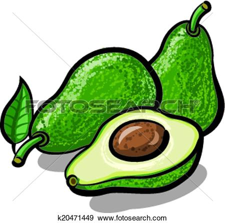 Clip Art of avocado k20471449.