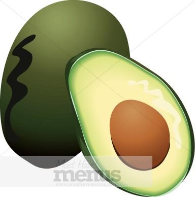 Avocados clipart #17