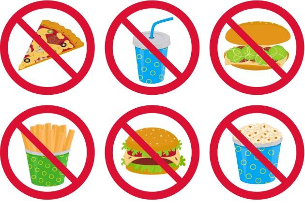 Avoid Junk Food Clipart.