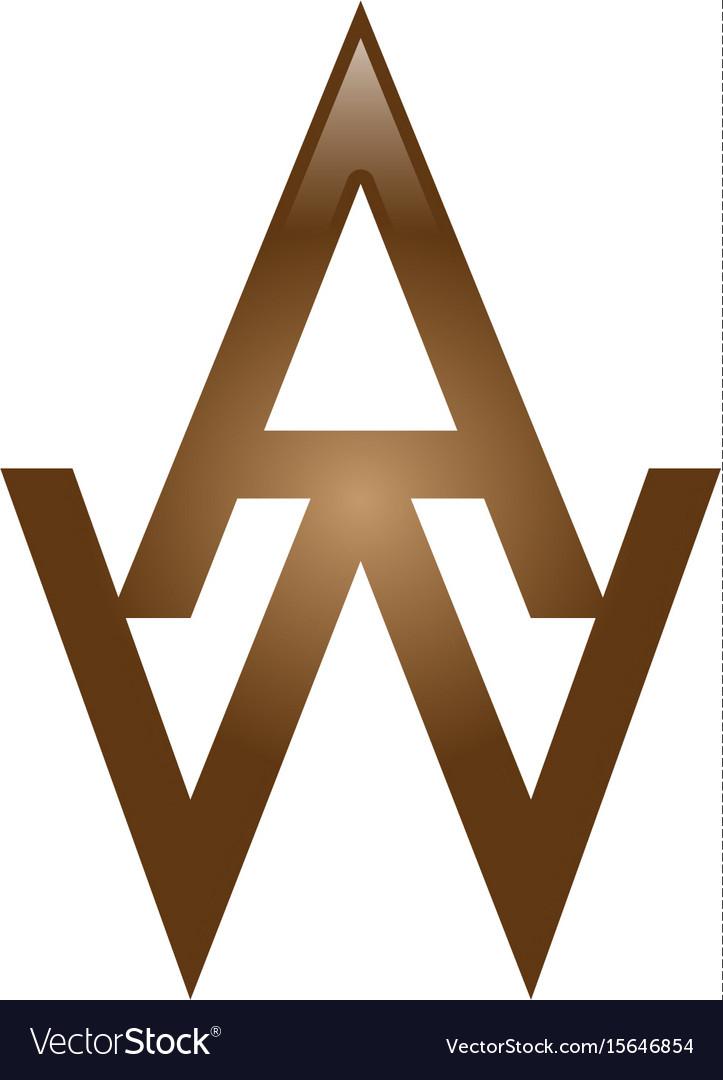 Aw letter logo.