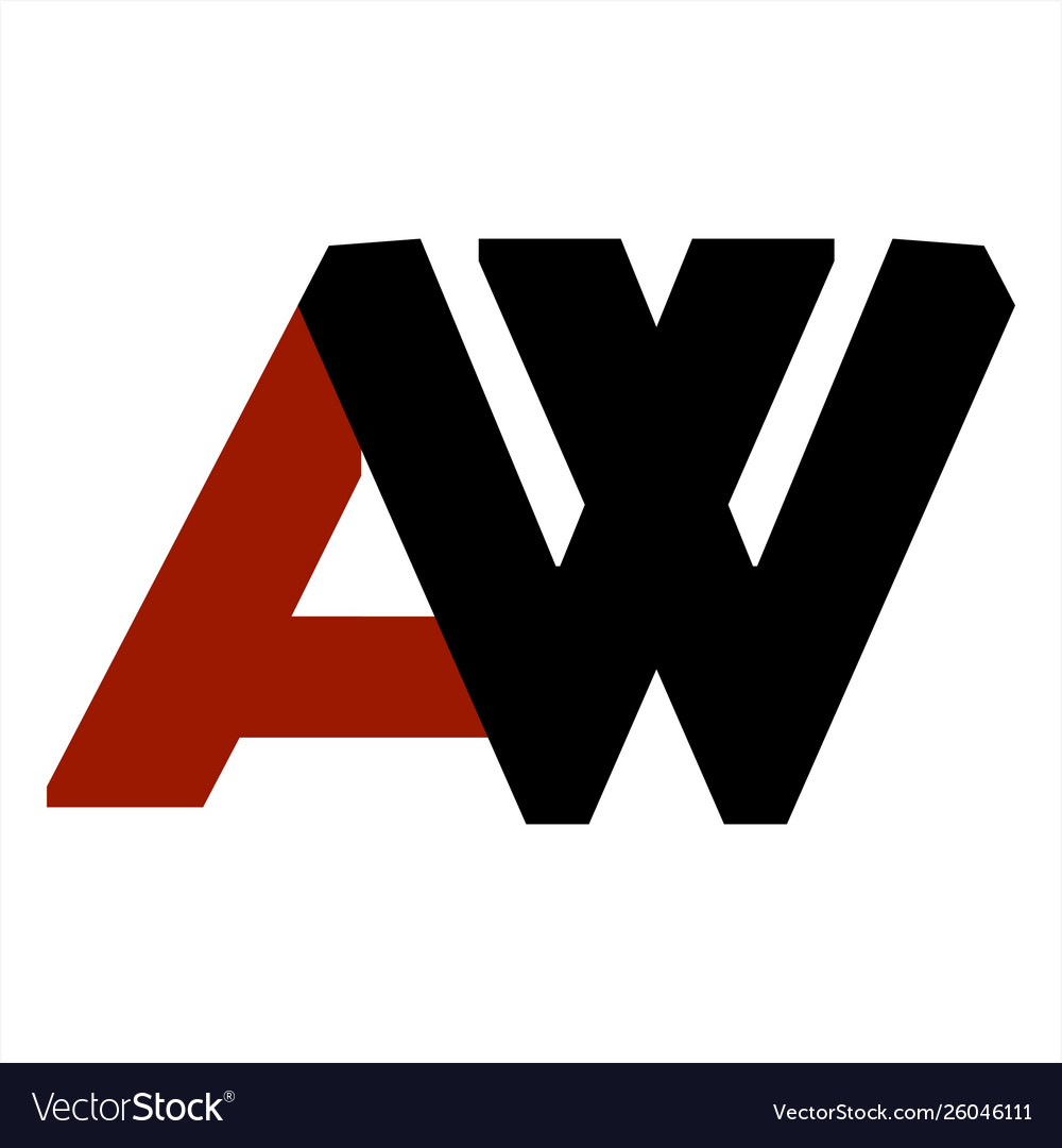 Aw wa initials letter company logo and icon.