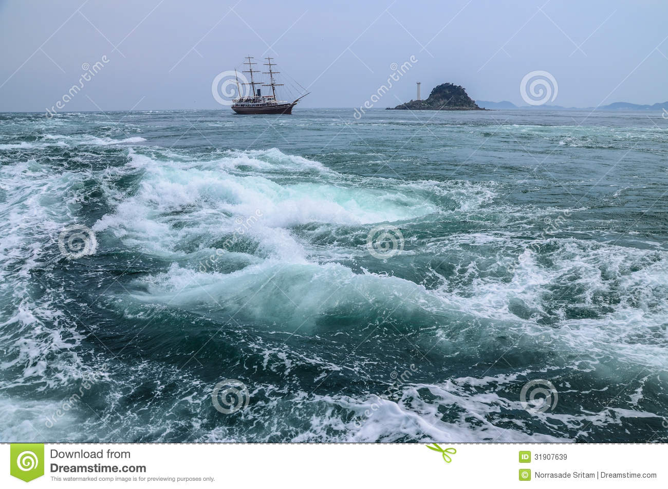 Naruto Whirlpools Royalty Free Stock Images.