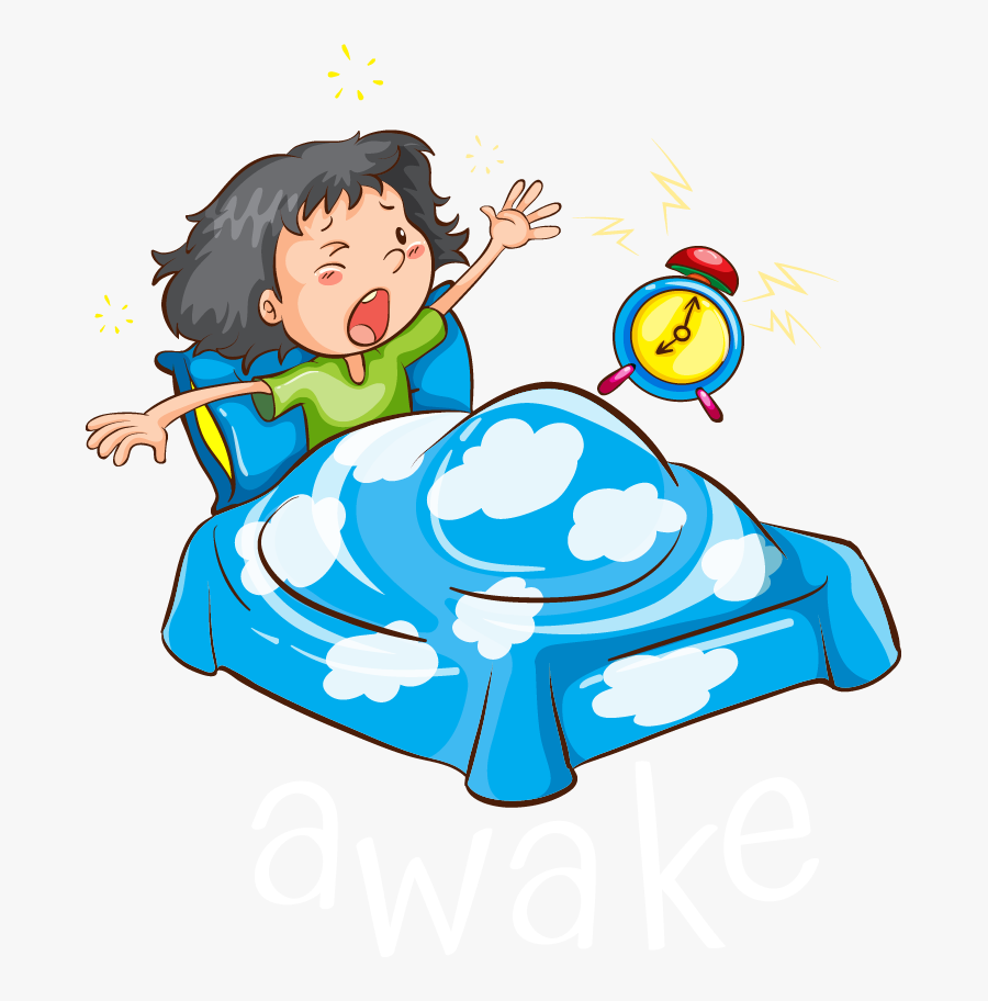 Wake Up At 6am Cartoon Clipart , Png Download.