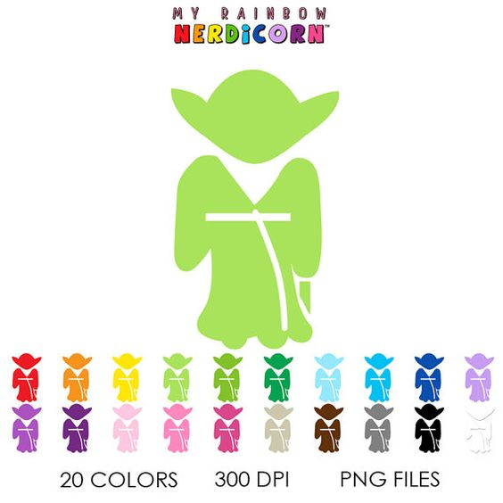 Yoda Star Wars clipart stencil png, Starwars silhouette clipart.