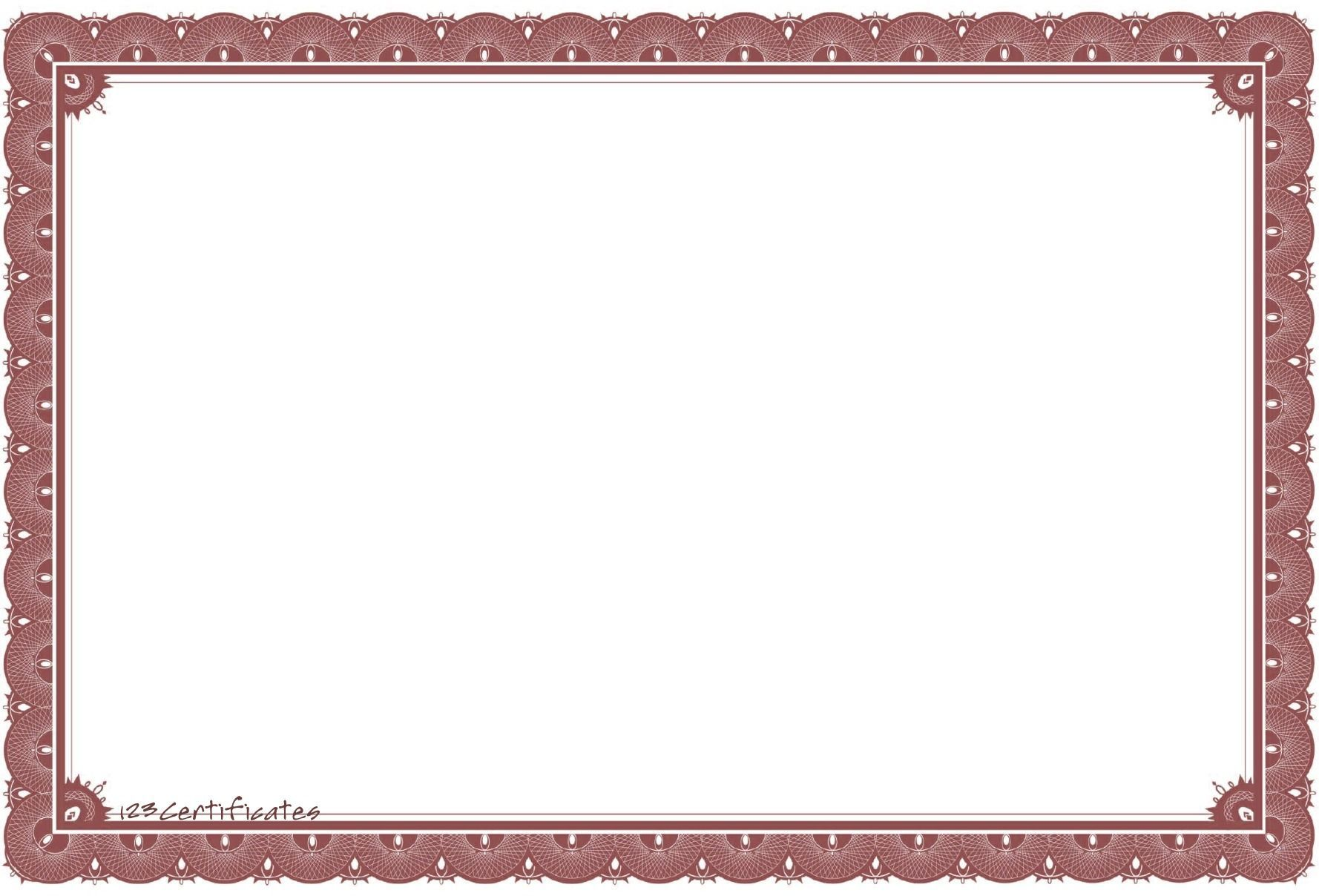 Free certificate borders to download, certificate templates.