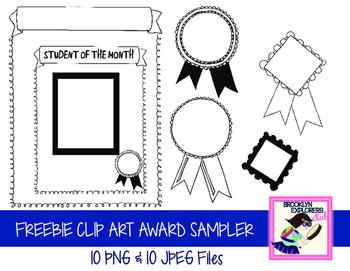 FREEBIE: Awards/Certificate Clip Art Set (20 Files).