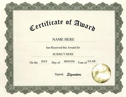 Geographics Certificates.