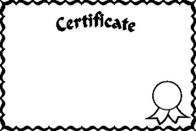 Blank Award Certificate Templates.
