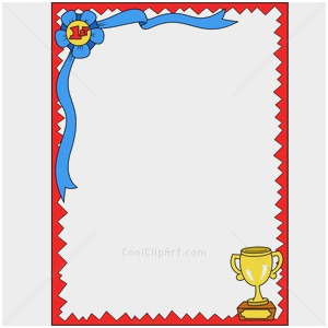 Award certificate border template Best of Award Borders.