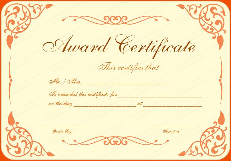 Png Award Certificate Template & Free Award Certificate Template.png.