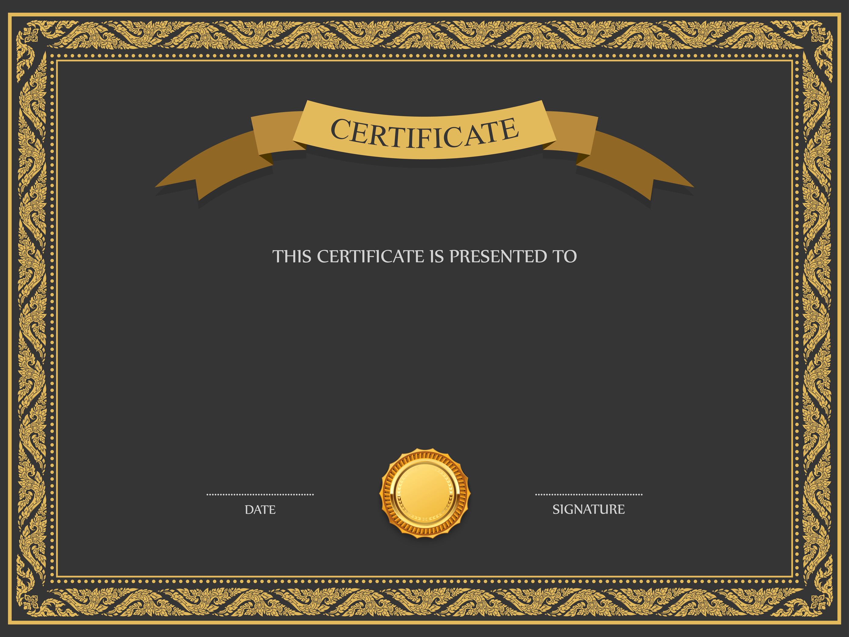 Certificate Template PNG Image.