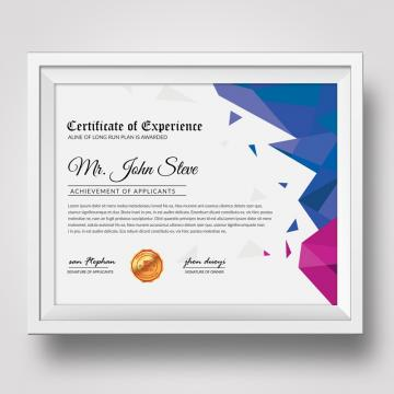 Award Certificate PNG Images.