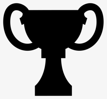Free Trophy Black And White Clip Art with No Background.