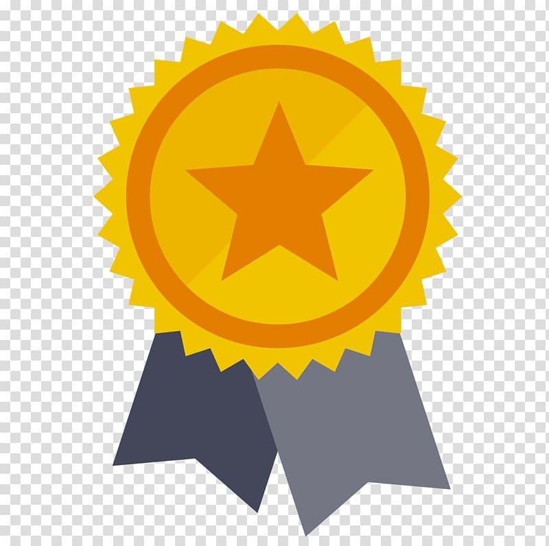 Gold ribbon illustration, Award Medal Prize Symbol , awards.