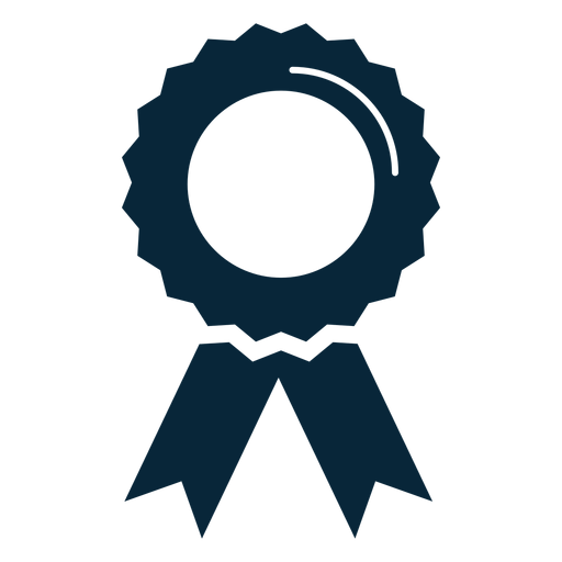 Graduation award ribbon flat icon.