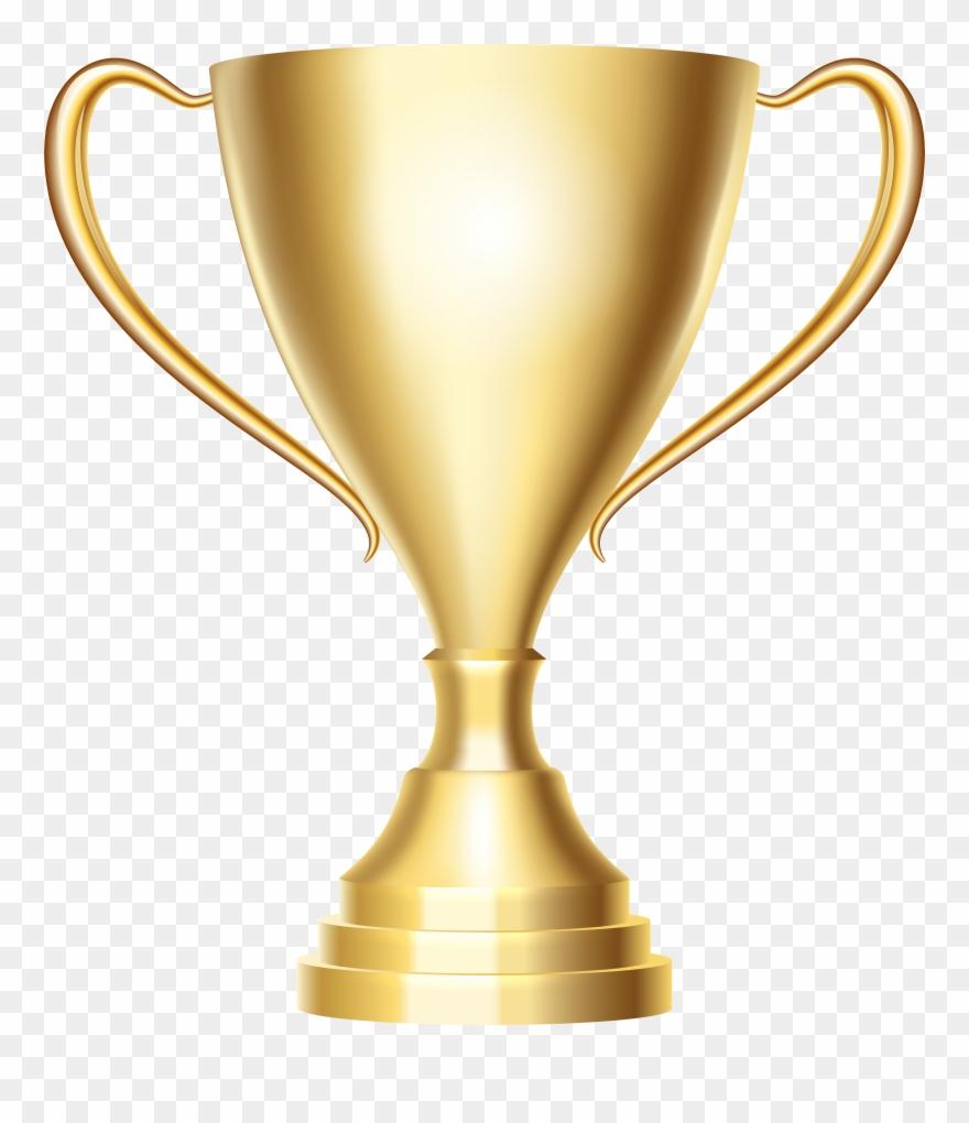 Gold Trophy Cup Award Transparent Png Clip Art Image.