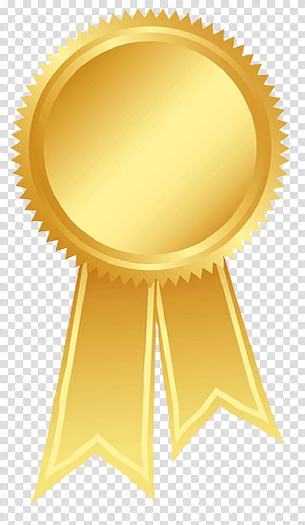 Gold medal illustration, Ribbon Gold Rosette Award , Gold.