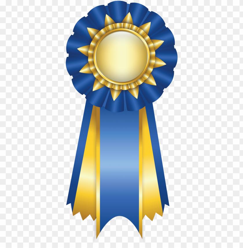 blue rosette ribbon png clipart picture.