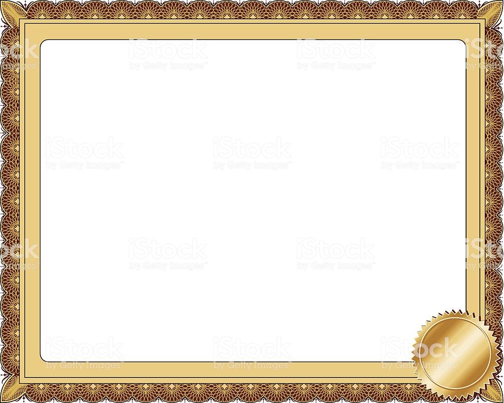 Certificate Frame Stock Illustration.