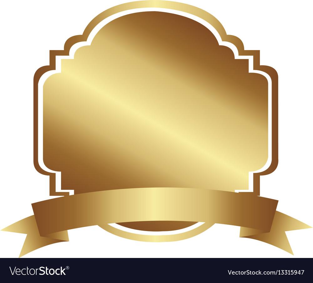 Golden decorative heraldic frame design with.