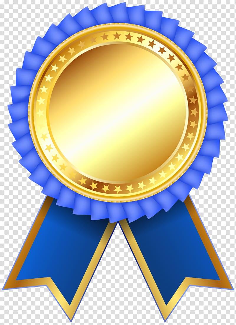 Yellow and blue ribbon illustration, Medal Ribbon Rosette , award.