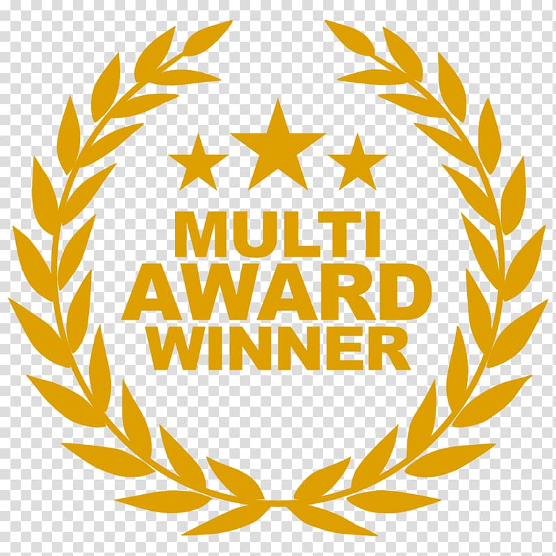 Multi Award Winner logo, Laurel wreath Olive wreath Bay.