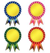 Set of award ribbon vector Clip Art.