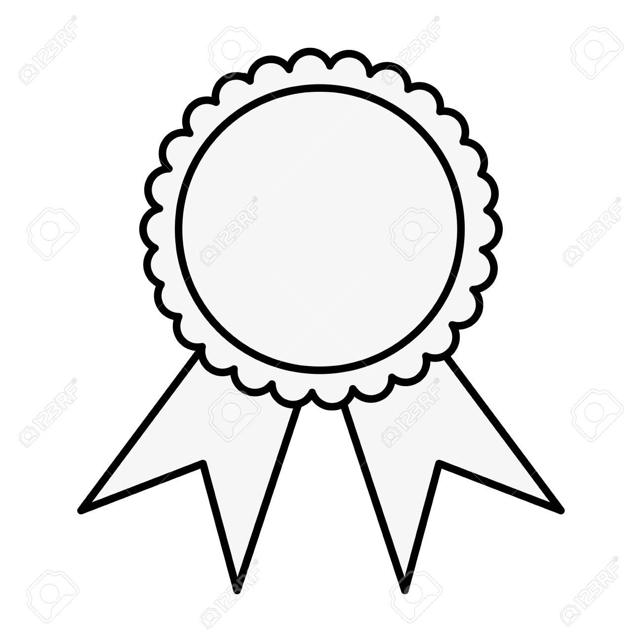 Award ribbon symbol icon vector illustration graphic design.