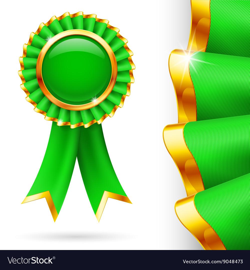 Green award ribbon.
